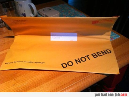 Very simple, do not bend!
