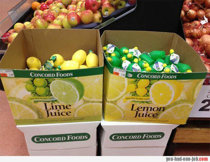 Limes and lemons, easy to mix up